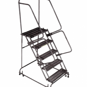Standard Rolling Ladder With Spring Loaded Casters