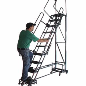 Navigator Rolling Ladder Folding Handrails