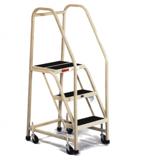 5 STEPS, 50″ H STEEL TILT AND ROLL LADDER