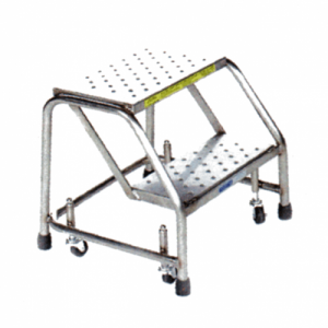Stainless Steel Spring Loaded Caster Ladder