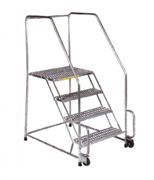 Stainless Steel Tilt And Roll Ladder Factory Equipment