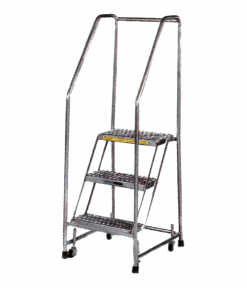 Aluminum Spring Loaded Caster Ladder