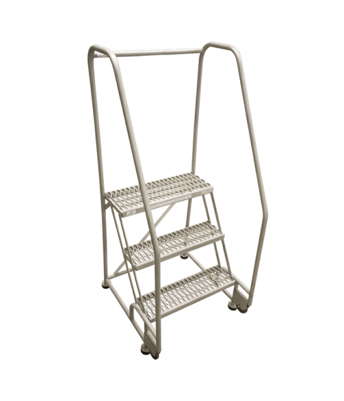 Cotterman Tilt And Roll Stainless Steel Ladder