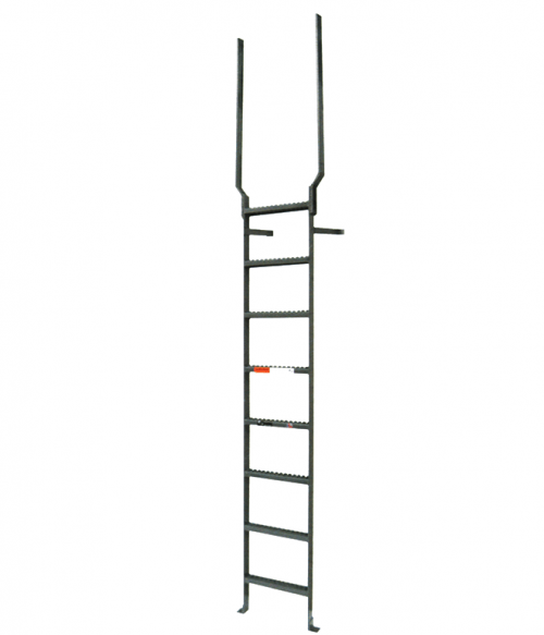 Aluminum Vertical Ladder With Rail Extensions