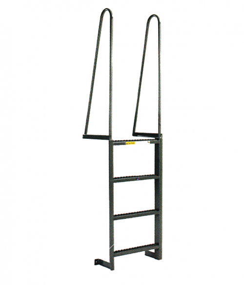 Steel Walk Thru Style Fixed Dock Ladder
