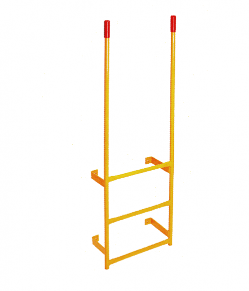 Steel Wall Mount Walk Thru Fixed Dock Ladder