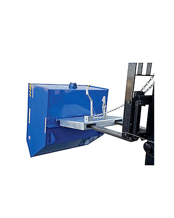 Portable Self Dumping Hoppers : Vestil low profile degree self dumping h style steel