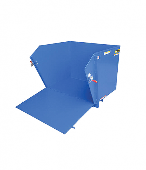 Vestil Steel Self-Dumping Hoppers With Fold Down Front