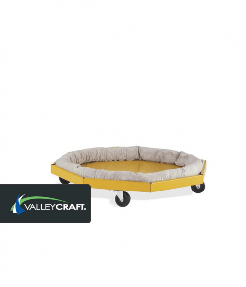 Drum Dolly with Absorbent Collar