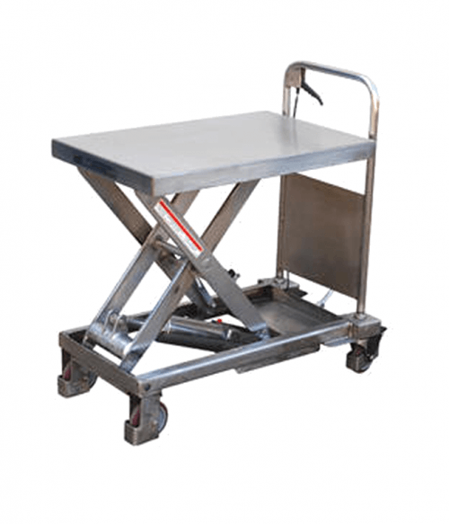 Vestil Partially Stainless Steel Hydraulic Elevating Carts