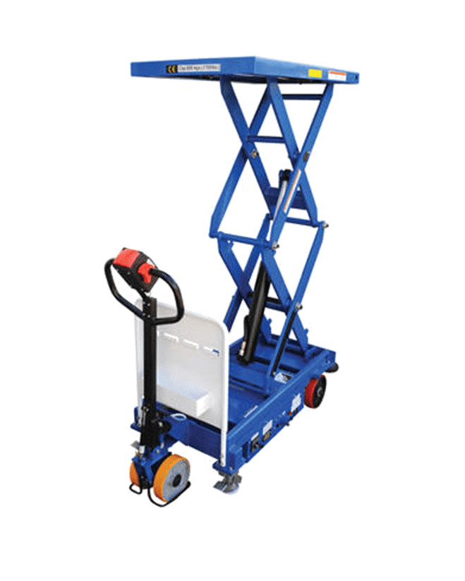 Vestil Traction Drive Electric Hydraulic Elevating Carts