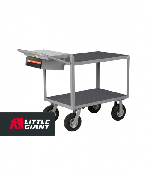 Instrument Cart With Writing Shelf and Storage Pocket