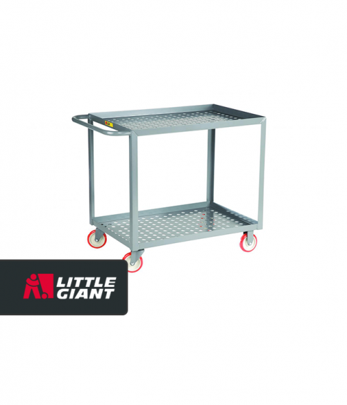 Welded Service Cart with Perforated Deck