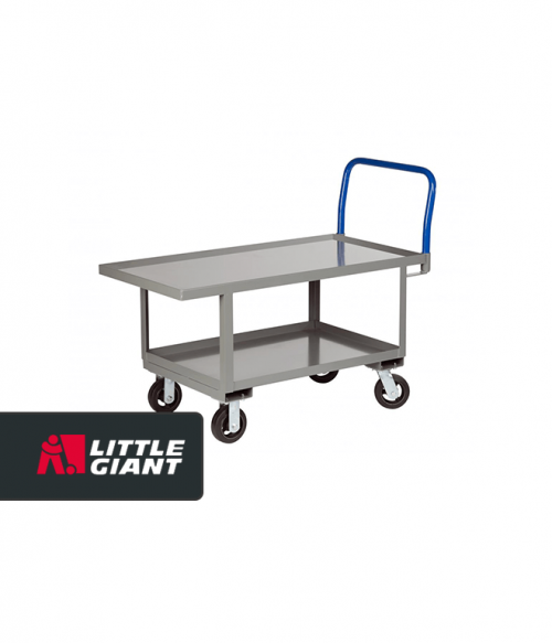 Work Height Platform Truck with Lower Shelf with 1 1/4″ lip edge