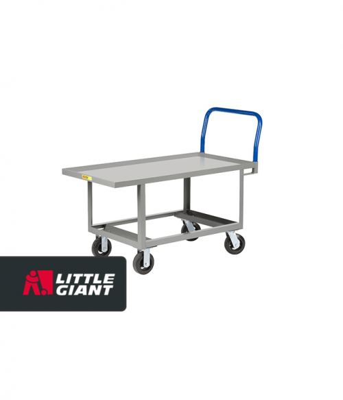 Hardboard over Steel Deck Work Height Platform Truck with Open Base
