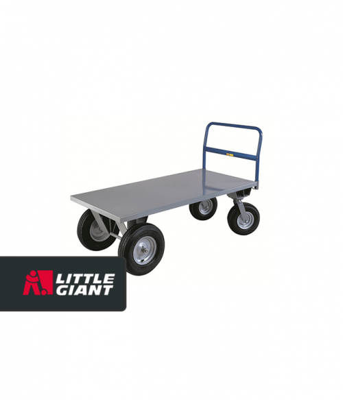 High Deck Cushion Load Platform with Pneumatic Tires