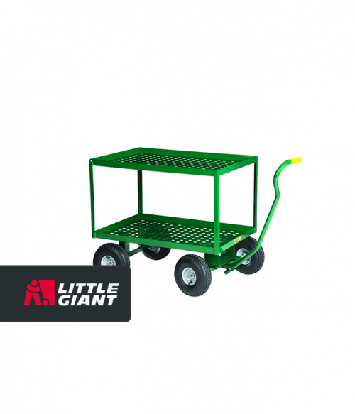 2 Shelf Nursery Wagon-Perforated Steel Deck