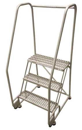 "3 STEPS, 30"" H STEEL TILT AND ROLL LADDER, 450 LB. LOAD CAPACITY"
