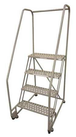 """4 STEPS, 40"""" H STEEL TILT AND ROLL LADDER, 450 LB. LOAD CAPACITY"""