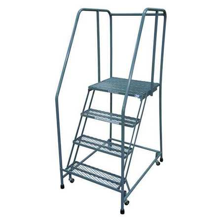 "4 STEPS, 40"" H STEEL TILT AND ROLL LADDER, 450 LB. LOAD CAPACITY"
