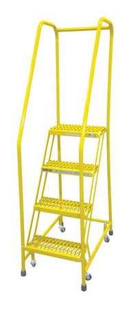 """4 STEPS, 40"""" H STEEL ROLLING LADDER, 450 LB. LOAD CAPACITY"""