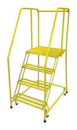 "4 STEPS, 40"" H STEEL ROLLING LADDER, 450 LB. LOAD CAPACITY"