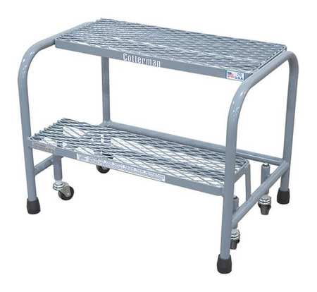 "20"" H Steel Rolling Ladder, 450 lb. Load Capacity"