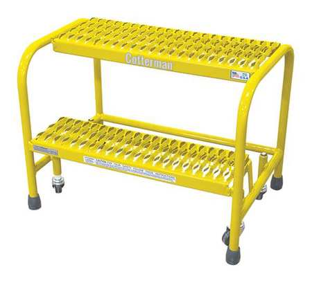 "20"" H Steel Rolling Ladder, 450 lb. Load Capacity"
