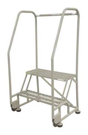 2 Steps 20 Quot H Steel Rolling Ladder 450 Lb Load Capacity