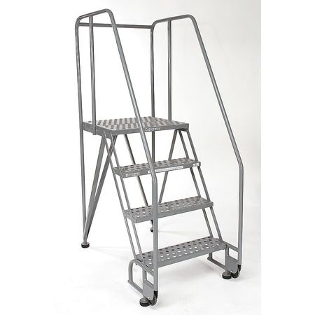 "3 STEPS, 30"" H STEEL TILT AND ROLL LADDER, 350 LB. LOAD CAPACITY"