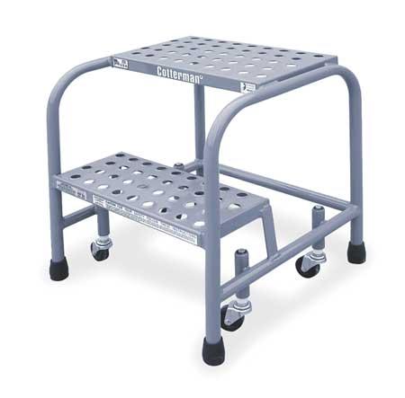 20 Quot H Aluminum Rolling Ladder 350 Lb Load Capacity