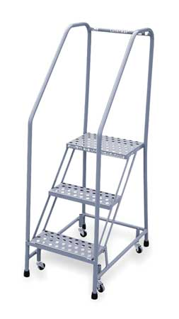 "3 STEPS, 30"" H STEEL ROLLING LADDER, 450 LB. LOAD CAPACITY"