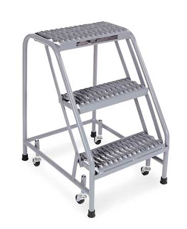 "30"" H STAINLESS STEEL ROLLING LADDER, 450 LB. LOAD CAPACITY"