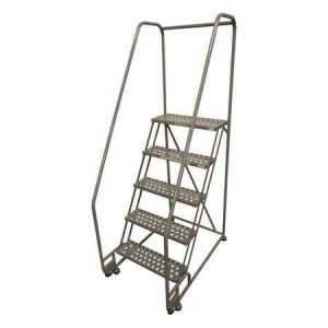 "5 STEPS, 50"" H STEEL TILT AND ROLL LADDER"
