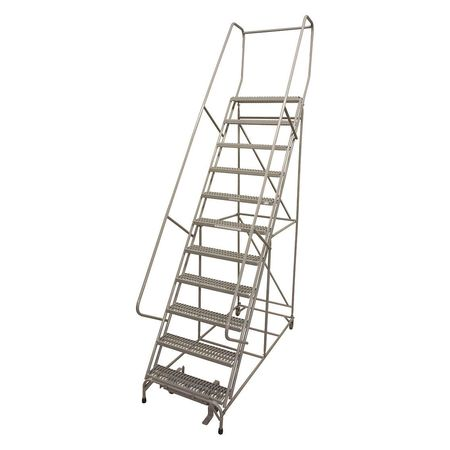 "12 Steps, 120"" H Steel Rolling Ladder, 450 lb. Load Capacity"