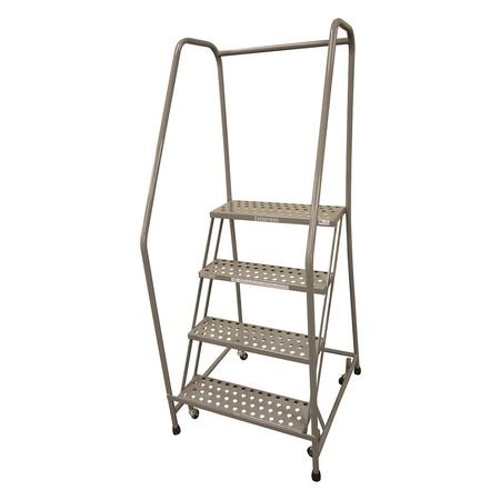 "4 STEPS, 40"" H STAINLESS STEEL ROLLING LADDER, 450 LB. LOAD CAPACITY"