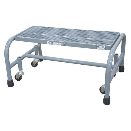 "1 Step, 12"" H Steel Rolling Ladder 450 lb. Load Capacity"