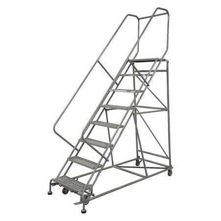 """12 Steps, 120"""" H Steel Rolling Ladder, 800 lb. Load Capacity"""