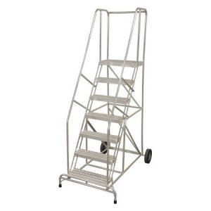 "10 Steps 100"" H Aluminum Ladder"