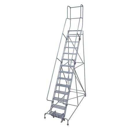 14 Steps 140 Quot H Steel Rolling Ladder 450 Lb Load