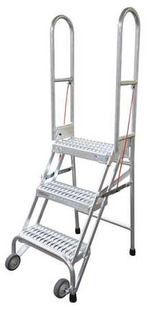 "30"" H STEEL FOLDING ROLLING LADDER, 350 LB. LOAD CAPACITY"