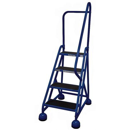 """4 STEPS, 36"""" H STEEL ROLLING LADDER, 450 LB. LOAD CAPACITY"""