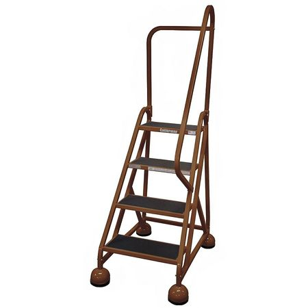 "4 STEPS, 36"" H STEEL ROLLING LADDER, 450 LB. LOAD CAPACITY"