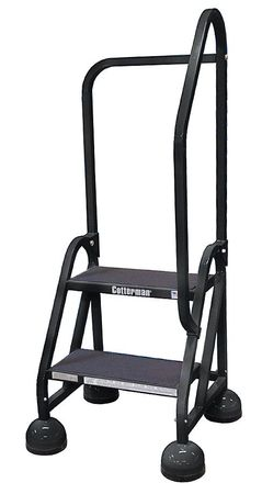 "18"" H Steel Rolling Ladder, 450 lb. Load Capacity"
