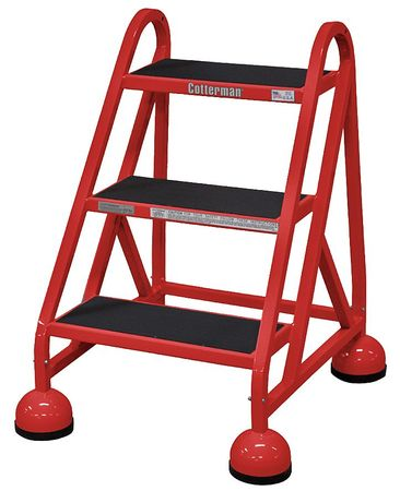 "27"" H Steel Rolling Ladder, 450 lb. Load Capacity"