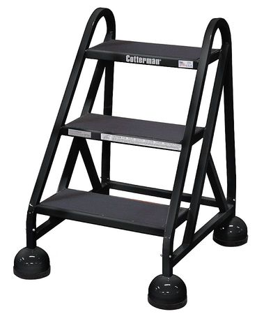 27 Quot H Steel Rolling Ladder 450 Lb Load Capacity