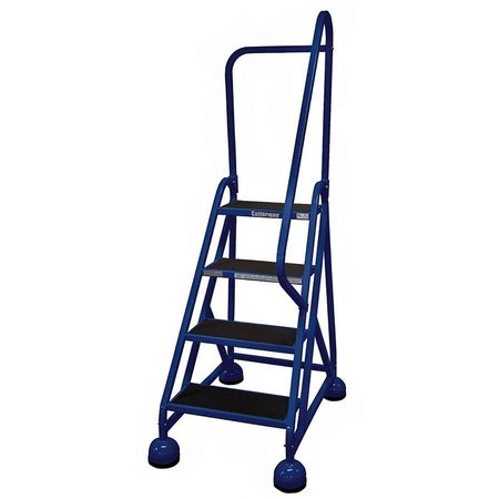 4 Steps 36 Quot H Steel Rolling Ladder 450 Lb Load Capacity