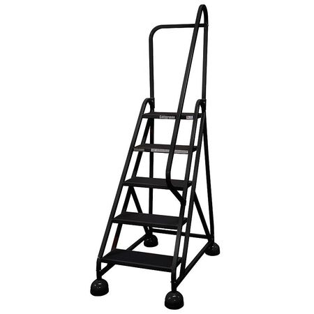 "5 STEPS, 45"" H STEEL ROLLING LADDER, 450 LB. LOAD CAPACITY"