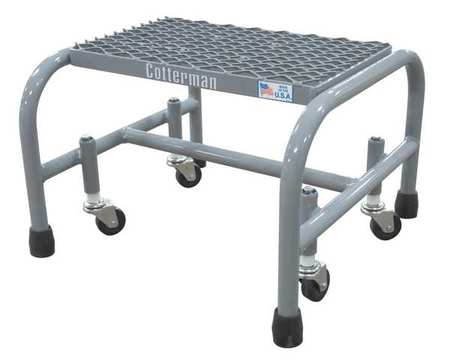 "1 Step, 12"" H Steel Rolling Ladder, 450 lb. Load Capacity"