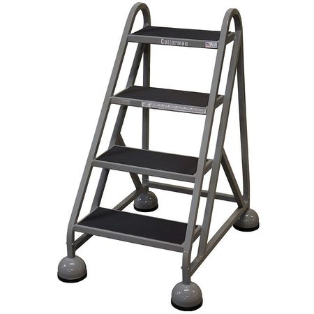 36 Quot H Steel Rolling Ladder 450 Lb Load Capacity